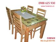 Bộ bàn ăn Gỗ Sồi trắng Nga đẹp