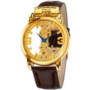 Ảnh số 1: Đồng hồ Stuhrling Original Mens 165E.3335K31 Classic Winchester Spire Mechanical Skeleton Gold Tone Watch - Giá: 5.932.000