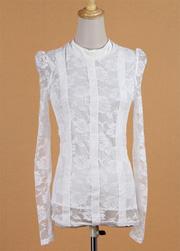 Ảnh số 12: Áo somi ren trắng - Giá: 215.000
