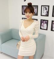 Ảnh số 40: Đầm trắng ôm tray ren DN15 - Giá: 260.000