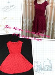 Ảnh số 16: Váy reCó các màu : đỏ, đỏ đun, đen, trắng
