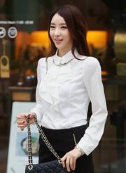 Ảnh số 25: áo sơ mi trắng có bèo ASM23 - Giá: 195.000