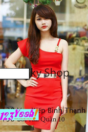 Ảnh số 28: Đầm body lệch vai chân váy xẻ quyến rũ DX59 - Giá: 180.000