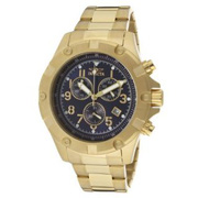 Ảnh số 1: Đồng hồ Invicta Mens 13620 Specialty Chronograph Blue Dial 18K Gold Ion-Plated Stainless Steel Watch - Giá: 3.696.000