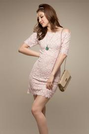 Ảnh số 51: Đầm ren màu hồng C5002 - Giá: 260.000