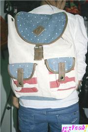 Ảnh số 91: Balo teen 2 túi lá cờ thời trang nổi bật BLTE55 - Giá: 280.000