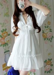 Ảnh số 52: đầm nữ voan trắng DN48 - Giá: 270.000