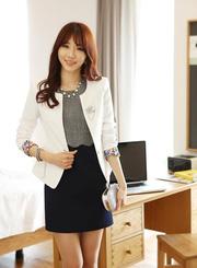 Ảnh số 31: áo vest nữ màu trắng AVN30 - Giá: 250.000