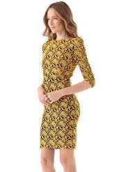 Ảnh số 79: Đầm ren màu vàng DN85 - Giá: 300.000