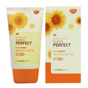 Ảnh số 1: Kem chống nắng tăng cường Super Perfect Sun Cream SPF50 PA+++ The Face Shop  - Giá: 200.000