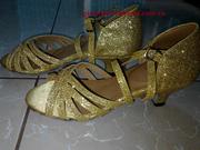 Ảnh số 17: Giày khiêu vũ trẻ em 5 nam kim tuyến vàng - Giá: 350.000
