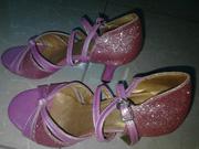 Ảnh số 23: Giày khiêu vũ trẻ em màu hồng tết nơ - Giá: 350.000