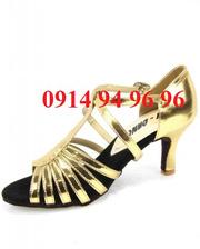 Ảnh số 45: Giày khiêu vũ màu váng bóng - Giá: 300.000