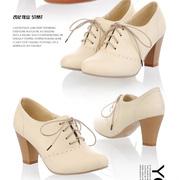 Ảnh số 3: Giày boot cổ ngắn gót gỗ cực xinh - MWC shop - Giá: 429.000