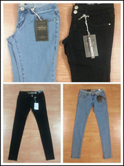 nh s 9: Qun Denim Zara cht co gin cp 2 khuy, mc rt thoi mi nh 32 34 36 38 40. 2 mu xanh nht v en - Gi: 300.000