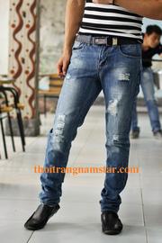 Ảnh số 14: quần bò ( jean) nam ống côn - Giá: 290.000
