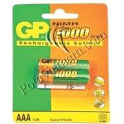 Ảnh số 6: Pin sạc điện, Pin đũa AAA, Pin NiMH, Pin 1.5V, Pin 1000 mAh, Pin sạc GP 1000 HC-U2 (1 Vỉ/ 2 viên pin sạc) - Giá: 100.000
