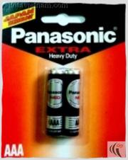 Ảnh số 21: Pin đũa AAA, Pin thông dụng, Pin Carbonzinc, Pin Panasonic extra heavy duty R03NT/2B - Đen ( 1 Gói/ 2 Viên pin) - Giá: 10.000