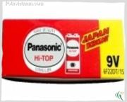 Ảnh số 35: Pin 9 Volt, Pin chữ nhật - vuông, Pin Carbonzinc, Pin thông dụng, Pin Panasonic heavy duty 6F22DT/1S - Đỏ ( 1 Gói/ 1 Viên pin) - Giá: 13.000