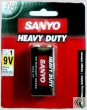 Ảnh số 36: Pin 9 Volt, Pin chữ nhật - vuông, Pin Carbonzinc, Pin thông dụng, Pin SANYO SSP-HC9VSP - Đỏ (1 Gói/ 1 Viên pin) - Giá: 17.200