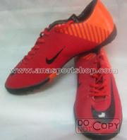 Ảnh số 4: Giày đá bóng sân cỏ nhân tạo NIKE MERCURIAL cam đỏ - Giá: 350.000