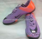 Ảnh số 5: Giày đá bóng sân cỏ nhân tạo NIKE MERCURIAL cam tím - Giá: 350.000