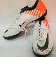 Ảnh số 6: Giày đá bóng sân cỏ nhân tạo NIKE MERCURIAL cam trắng - Giá: 350.000