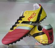 Ảnh số 36: Giày đá bóng sân cỏ nhân tạo PES MAGIC đỏ vàng - Giá: 250.000