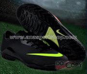 Ảnh số 48: Giày đá bóng sân cỏ nhân tạo NIKE MERCURIAL mới  đen - Giá: 450.000