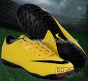 Ảnh số 49: Giày đá bóng sân cỏ nhân tạo NIKE MERCURIAL mới  vàng - Giá: 450.000