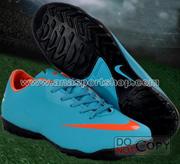 Ảnh số 50: Giày đá bóng sân cỏ nhân tạo NIKE MERCURIAL mới  xanh - Giá: 450.000