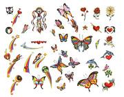 Ảnh số 2: Mẫu hình xăm con bướm - Giá: 1.200.000