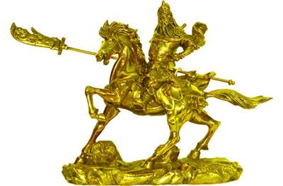Tượng quan công,tượng đồng quan công,quan công cưỡi ngựa,qua
