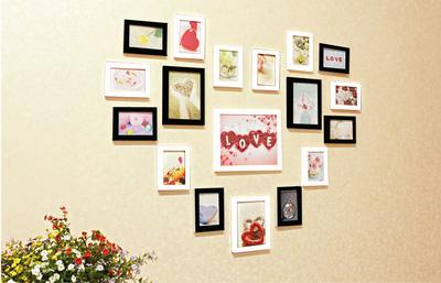 Model Love 2   bộ khung ảnh treo tường xinh xắn cho ngôi nhà iu quý, văn phòng làm việc, quà tặng độc đáo