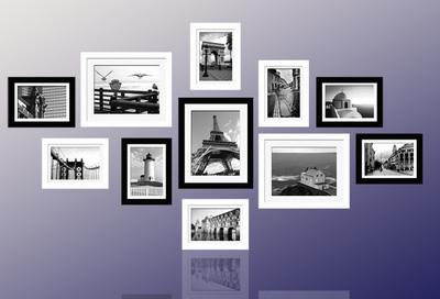 Mẫu 6   bộ khung ảnh treo tường xinh xắn cho ngôi nhà iu quý, văn phòng làm việc, quà tặng độc đáo