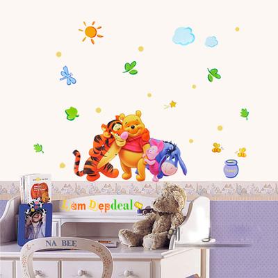 Decal dán tường gấu Pooh cùng các bạn