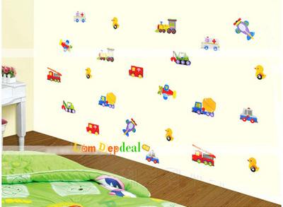 Decal dán tường các loại xe