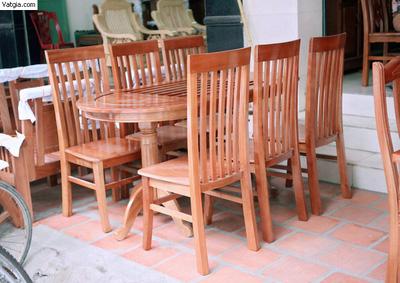 Bộ bàn ghế ăn gỗ xoan đào EPA 138