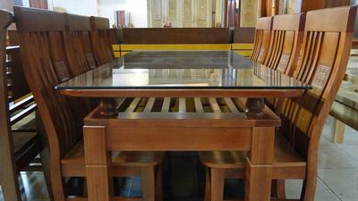 Bộ bàn ăn 06 ghế gỗ sồi nga EPA  101