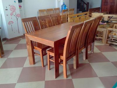 Bộ bàn ăn 06 ghế gỗ Xoan Đào EPA 108