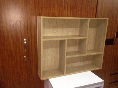Giá gỗ màu vân sồi 1 m
