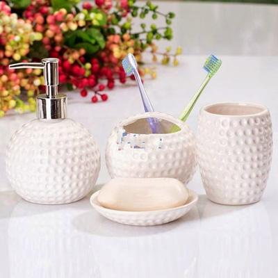 Bộ để đồ nhà tắm 4 thiết bị kiểu tổ ong màu trắng   417063