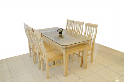 Bộ bàn ghế ăn gỗ sồi nga GBA035