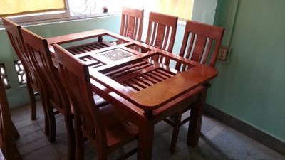 Bộ bàn ăn xoan đào GBA026