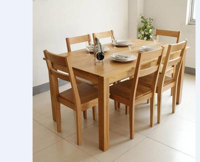 Bộ bàn ăn gỗ sồi EBA03