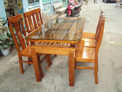 Bộ bàn ghế ăn Gỗ Xoan Bắc EPA 134