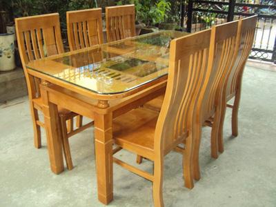 Bộ bàn ghế ăn gỗ Sồi EPA 136