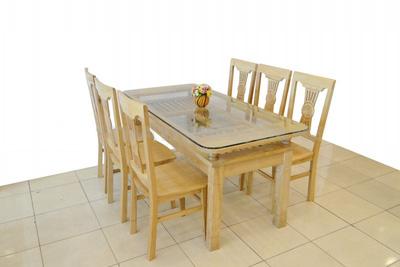 Bộ bàn ăn 6 ghế gỗ sồi EPA 103