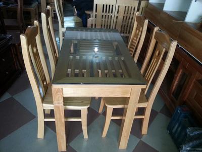 Bộ bàn ăn 4 ghế gỗ sồi EPA 112