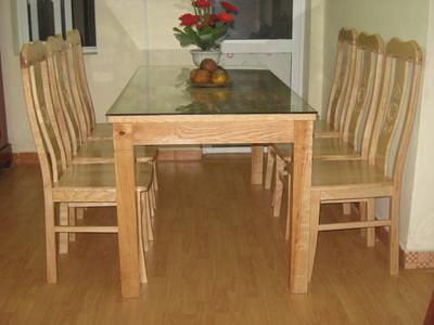 Bàn ăn 6 ghế gỗ sồi nga EPA 117